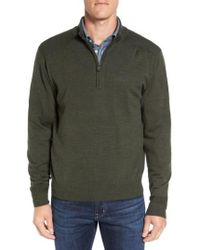 Cutter & Buck - 'douglas' Quarter Zip Wool Blend Sweater - Lyst