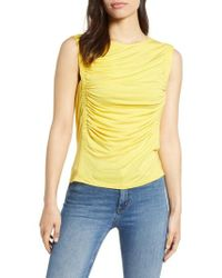 Bobeau - Cinched Sleeveless Knit Top - Lyst