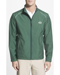 Cutter & Buck - 'green Bay Packers - Beacon' Weathertec Wind & Water Resistant Jacket, Green - Lyst