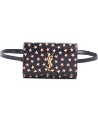 Saint Laurent - Kate Star Print Calfskin Leather Belt Bag - - Lyst