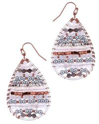 Nakamol - Beaded Moonstone Teardrop Earrings - Lyst