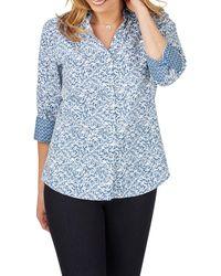 Foxcroft - Mary Winding Vines Print Shirt - Lyst