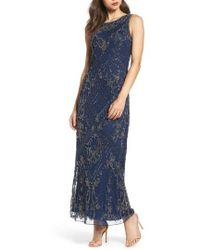 Pisarro Nights   Embroidered Mesh Gown   Lyst