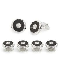 David Donahue - Sterling Silver Cuff Link & Stud Set - Lyst
