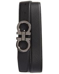 Ferragamo - Double Gancio Leather Belt - Lyst