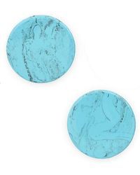 Shashi - Marble Stud Earrings - Lyst