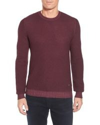 Stone Rose - Honeycomb Merino Crewneck Sweater - Lyst