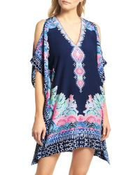 Lilly Pulitzer - Lilly Pulitzer Atlin Cold Shoulder Silk Caftan - Lyst