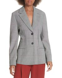 3.1 Phillip Lim - Checkered Wool Blend Blazer - Lyst