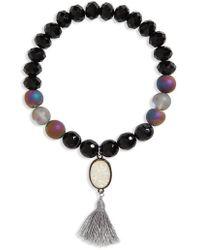 Panacea - Stone & Tassel Stretch Bracelet - Lyst
