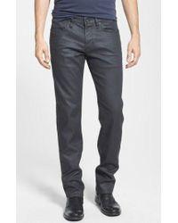 John Varvatos | 'bowery' Slim Straight Leg Coated Jeans | Lyst