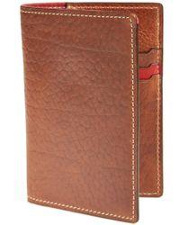 Trask - 'jackson' Bison Leather Passport Holder - Metallic - Lyst