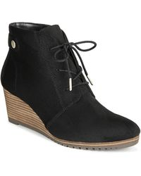 acb10c8d900 Lyst - BCBGeneration Nariska Suede Lace-up Wedge Bootie in Black