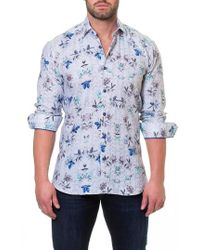 Maceoo - Wall Street Mountain Grey Slim Fit Sport Shirt - Lyst