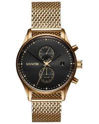 MVMT - Voyager Chronograph Mesh Strap Watch - Lyst