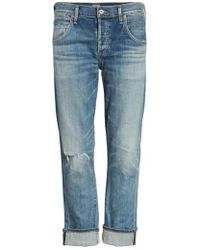 Citizens of Humanity - 'emerson' Ripped Slim Boyfriend Jeans - Lyst