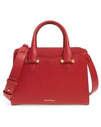 Ferragamo - Small Today Leather Satchel - Lyst