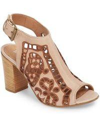 Ron White - Sabrina Floral Cutout Shield Sandal - Lyst