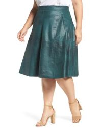 REBEL WILSON X ANGELS - Stretch Faux Leather A-line Skirt - Lyst