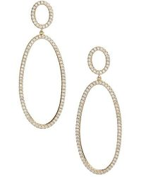 Nordstrom - Pave Circle & Oval Drop Earrings - Lyst