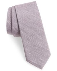 Calibrate - Marcus Solid Cotton Blend Tie - Lyst
