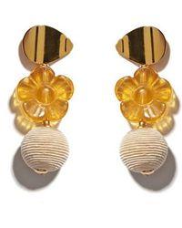 Lizzie Fortunato - Goldenrod Column Drop Earrings - Lyst