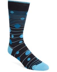Bugatchi | Big Dot & Stripe Crew Socks | Lyst