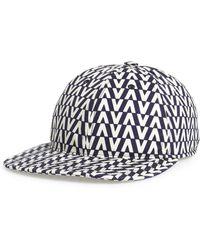 Valentino - Optical Print Cotton Cap - Lyst