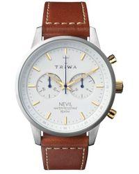 Triwa | Nevil Chronograph Leather Strap Watch | Lyst