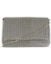 TOPSHOP - Diana Diamante Clutch Bag - Metallic - Lyst