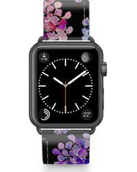 Casetify - Saffiano Purple Flowers Faux Leather Apple Watch Strap - Lyst
