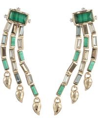 Alexis Bittar - Retro Gold Collection Fancy Baguette Sculptural Earrings - Lyst