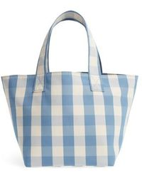 Trademark - Small Gingham Nylon Grocery Tote - Lyst