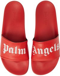f6fabab682f7 Lyst - Palm Angels Collab. Suicoke Slides in Black for Men