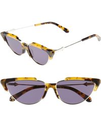 205e72150f6 Karen Walker - Tropics 58mm Cat Eye Sunglasses - Crazy Tortoise - Lyst
