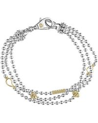 Lagos - 'caviar Icon' Multistrand Bracelet - Lyst