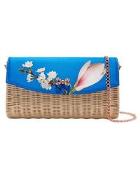 Ted Baker - Haarley Harmony Woven Rattan Clutch - Lyst