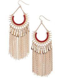 Adia Kibur - Chain Fringe Earrings - Lyst