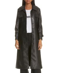 Nili Lotan - Leather Trench Coat - Lyst