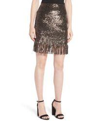 Bardot | Sequin Fringe Skirt | Lyst