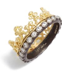 Armenta - Old World Diamond Crown Ring - Lyst