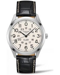 Longines - Railroad Automatic Leather Strap Watch - Lyst