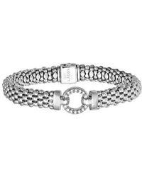 Lagos | 'enso - Circle Game' Diamond Caviar Rope Bracelet | Lyst