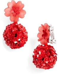 Sachin & Babi - Noir Fleur Drop Earrings - Lyst