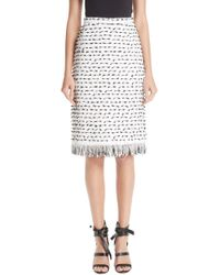 Oscar de la Renta - Fil Coupe Tweed Pencil Skirt - Lyst