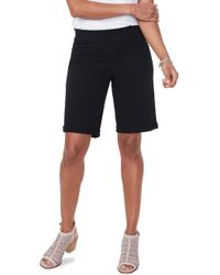 NYDJ - Roll Cuff Pull-on Denim Shorts - Lyst