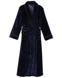 Oscar de la Renta - Sleepwear Long Fleece Robe - Lyst