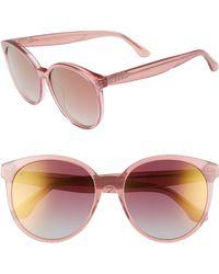 DIFF - Cosmo 56mm Polarized Round Sunglasses - - Lyst