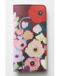 Anthropologie | Picturesque Florals Travel Wallet - Burgundy | Lyst