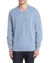Thaddeus   Anthony Slubbed Long Sleeve V-neck T-shirt   Lyst